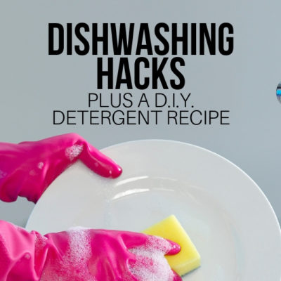 WHAT? This D.I.Y. Dishwasher Detergent lasts for years. Plus, these simple hacks keep you from spending too much money, too!