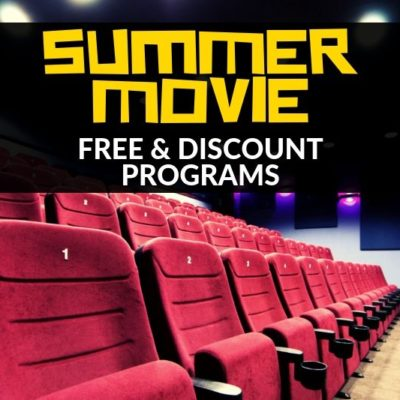 Did you know you can catch flicks with your kids for FREE (or close to it)?! Check out these Summer Movie Programs for details.