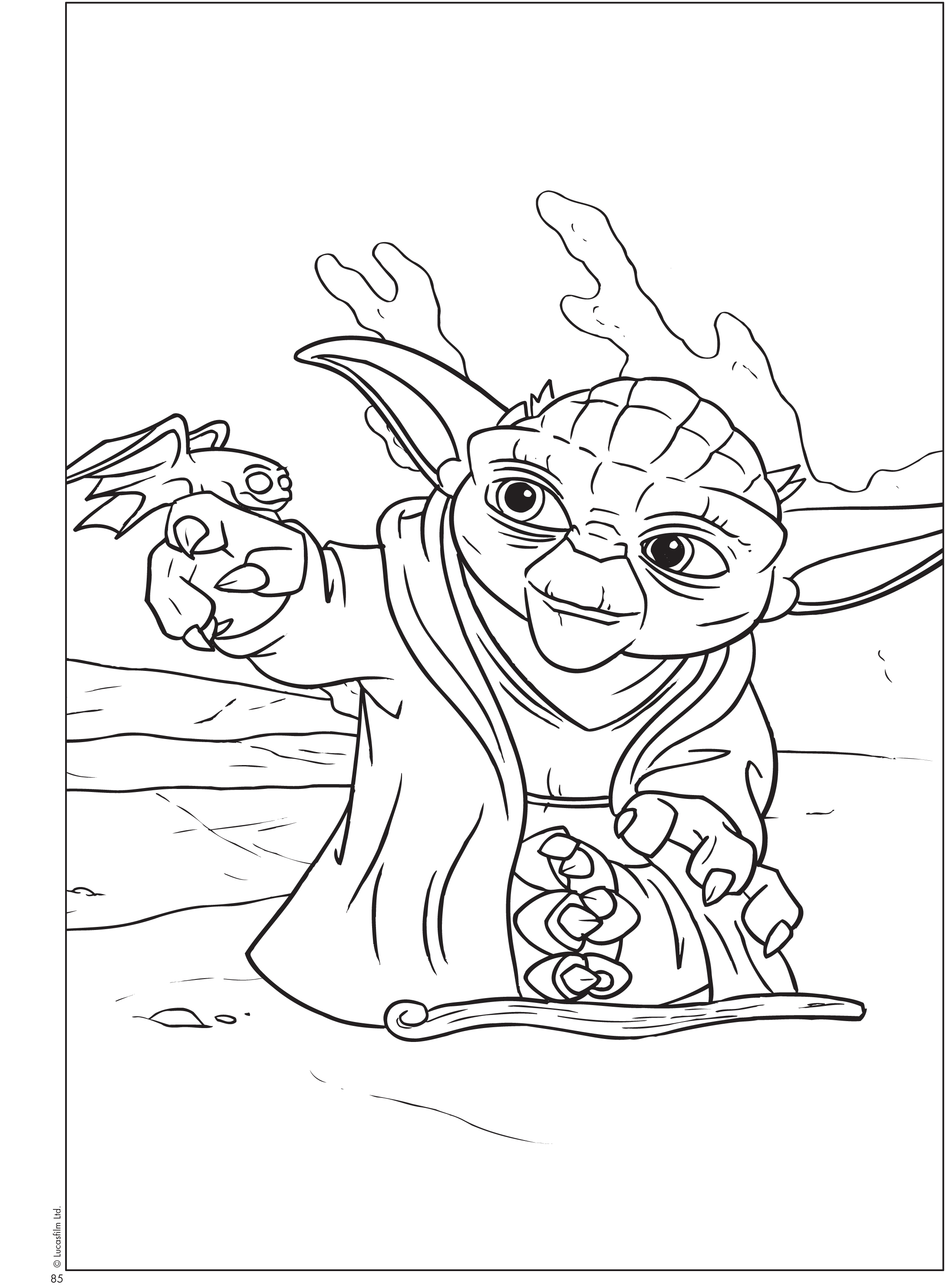 free printable star wars® coloring sheets - queen of free