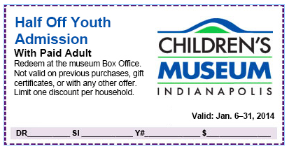 childrens museum of indianapolis coupons